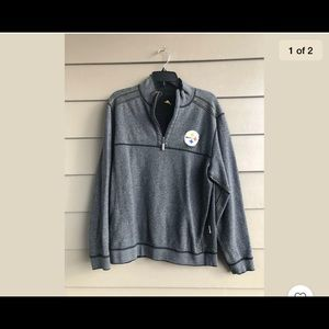 Tommy Bahama Black Steelers Men's Pullover